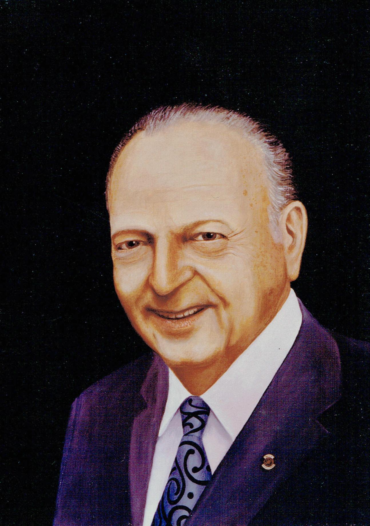 """ריכרד שטראוס,מייסד חברת """"שטראוס"""" שמן על בד,40X50 ס""""מ, נהריה."""